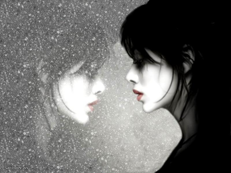 عشق، تنهایی ، برف، پشت شیشه